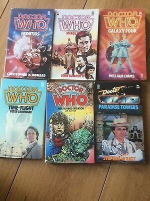 Dr Doctor Who Paperback Books X6