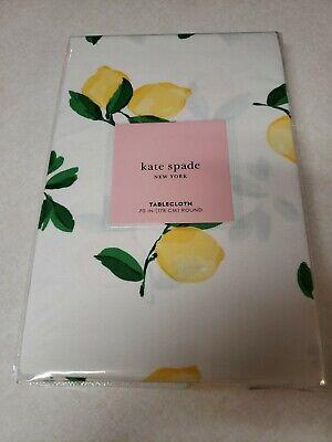 "Kate Spade New York Make Lemonade 100% Cotton Tablecloth Lemon Round 70"" (178cm)"