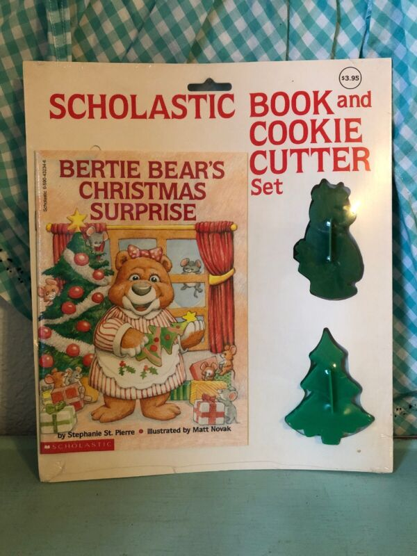 Vintage Scholastic Book and Cookie Cutter Set Bertie Bear