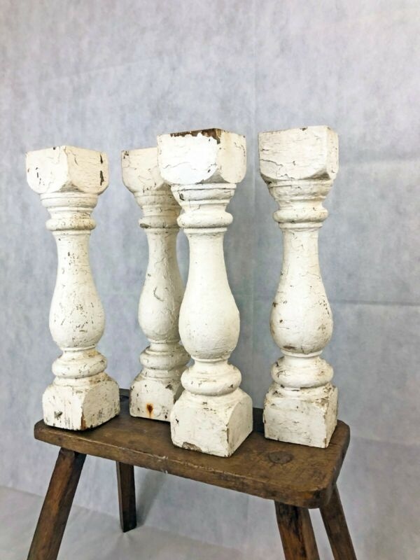 Antique Chunky Balusters / Spindles - Architectural Salvage, White