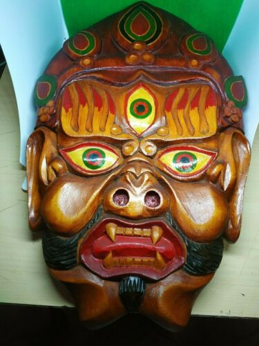 Mask handmade Mahakala