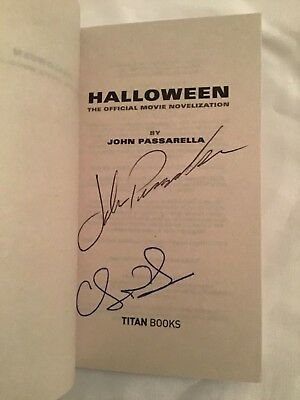 SIGNED Halloween Novelization by John Passarella, Christopher Nelson PB 1st +Pic ()