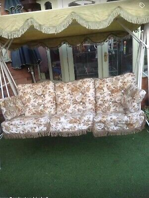 Vintage 197O/80 Retro Vintage Seat Hammock Needs Work But Complete With Cushions
