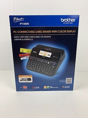 Brother Pt-d600 P-touch Label Maker Pc-connectable Labeler With Color Display