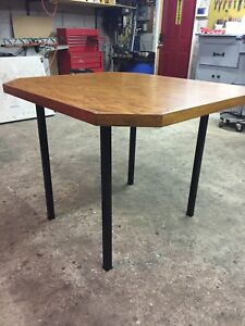 Rectangular dining table - completely refinished with new base!