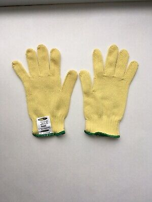 Pack of 12 Yellow West Chester 35K Regular Weight 100/% Kevlar Knit Gloves Large
