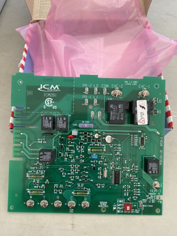 ICM Furnace Speed Control Board ICM281 for Carrier CES0110057-01 CES0110057-02