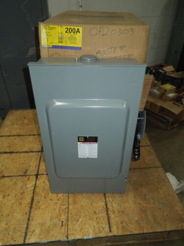 Square D Hu364rb Heavy Duty Safety Switch Non-fused 200a 3w 600v Nema 3r Surplus