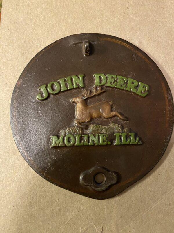 Painted John Deere Cast Planter Lid