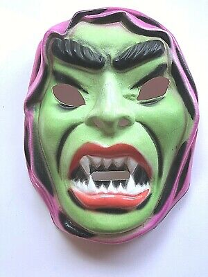 VTG Ben Cooper? Halloween Costume Mask - Villian Character Green Face Hong Kong