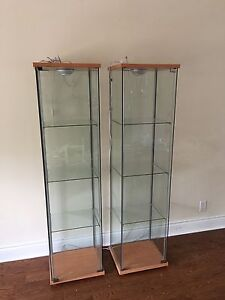 Clear Shelves with Lights on top