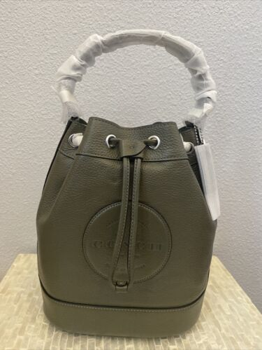 Coach Dempsey Drawstring Bucket Bag Refined pebble leather S