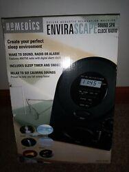 HOMEDICS SOUNDSPA CLOCK RADIO RELAX SLEEP BETTER #SS-400B BLACK NEW OPEN BOX