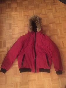Manteau d'hiver homme vrai fourrure!! Pas chere