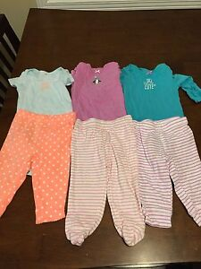 Infant outfits (bodysuits, pants, 6 months)