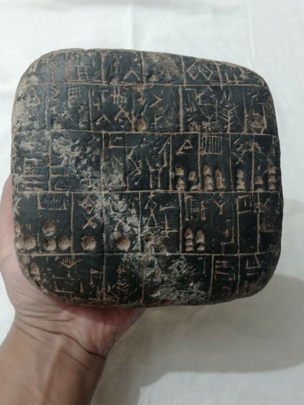 VERY LARGE & RARE C 3000BC NEAR EASTERN STONE TABLET WITH EARLY FORM OF WRITING