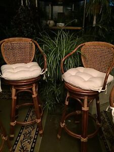 4 Bar Stools (Rattan or Wicker or Both??)