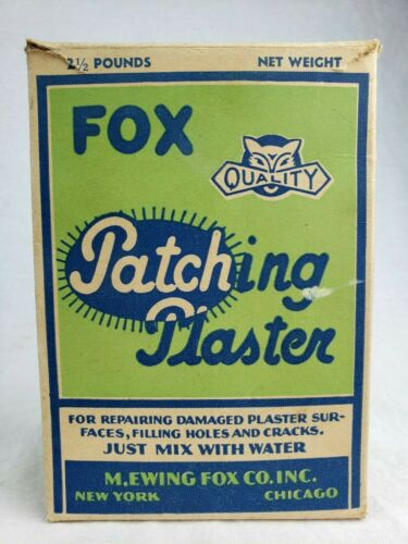 Rare Vintage M. Ewing Fox Co. Advertising Cardboard Box FOX Graphic