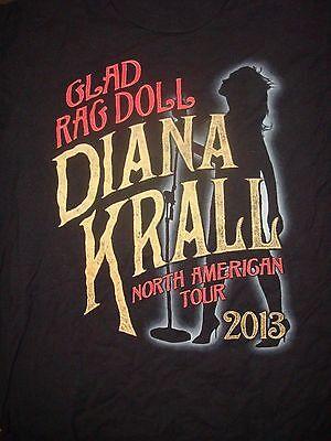 Rare Diana Krall 2013 Glad Rag Concert T-Shirt, Size Medium, Nice Condition!