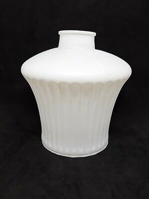 Vintage White Painted Frosted Glass Light Lamp Shade