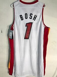 1721fc63931 Adidas Swingman NBA Jersey Miami Heat Chris Bosh White sz 2X