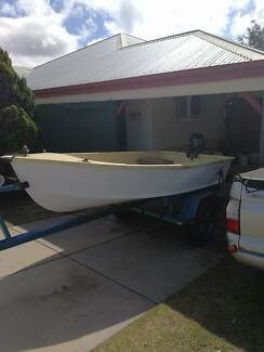 3.3m Fibreglass boat with 9.9hp motor