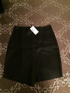 Women's leather skirt, never worn with tags