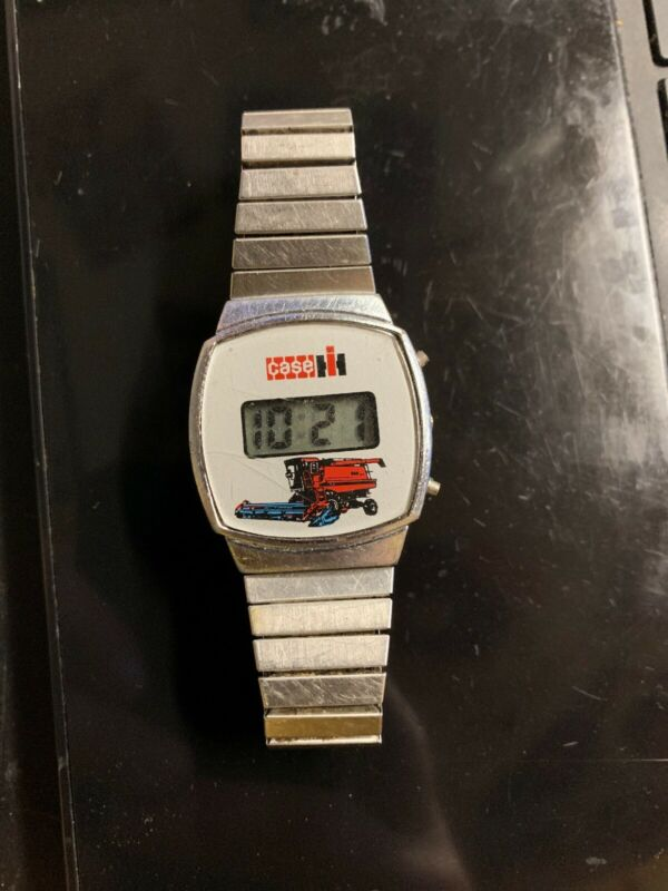 Vintage IH Case Combine digital LED Watch Works New Battery