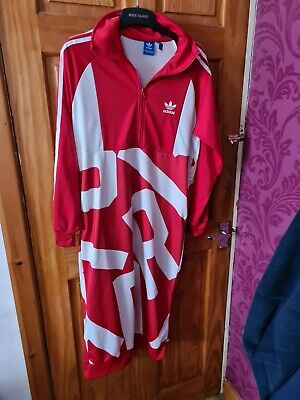Adidas Bold Age Track Dress Red White Size 12