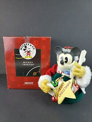VINTAGE DISNEY MICKEY MOUSE TREE TOPPER BY MIDWEST W/TAG & BOX Christmas RARE