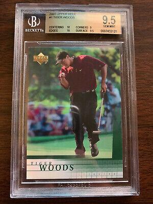 2001 Upper Deck Tiger Woods BGS 9.5 with 2 10 subgrades PSA 10??