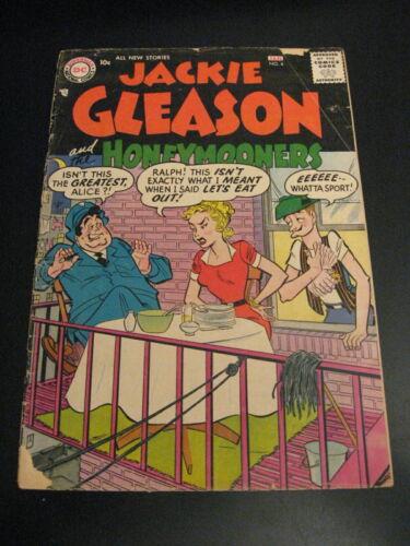 JACKIE GLEASON & HONEYMOONERS #4 (1955) HTF! (VG-) **Very Bright & Colorful!**