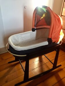 UPPAbaby bassinet with Jolly Jumper bassinet stand.