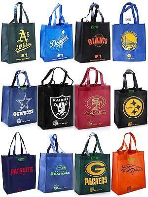 Nfl Mlb Nba Team 2016 Reusable Shopping  Grocery Bag