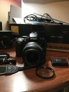Nikon D5100 with 18-55mm VR lens + Accessories
