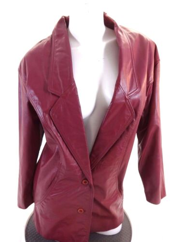 WILSONS LEATHER WOMENS PURPLE LEATHER JACKET SIZE S CUTE!