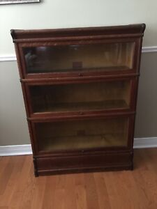 Antique Barrister Bookcase - GlobeWernicke - 3 Shelves- Banded