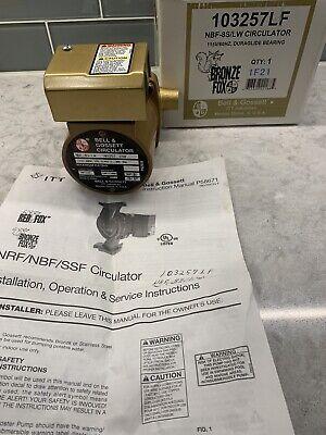 New Bell Gossett 1033257lf Nbf-8slw Bronze Circulator Pump Lead Free