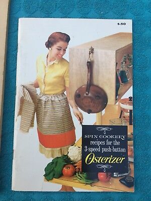 1964 Osterizer Spin Cookery 2-speed BLENDER instructions recipes  64pg booklet