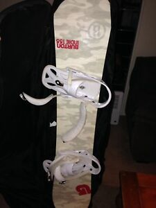 Burton Indie snowboard (size 155cm) boots and bindings