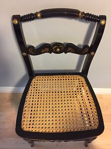 ANTIQUE CANE SEAT CHAIR