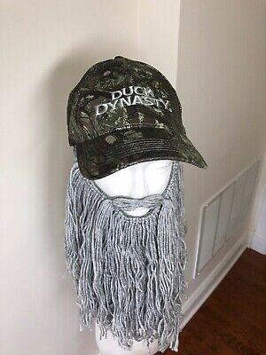 5db32fa55419fd Duck Dynasty Camo Baseball Cap - Detachable Long Grey Beard By Beard Head