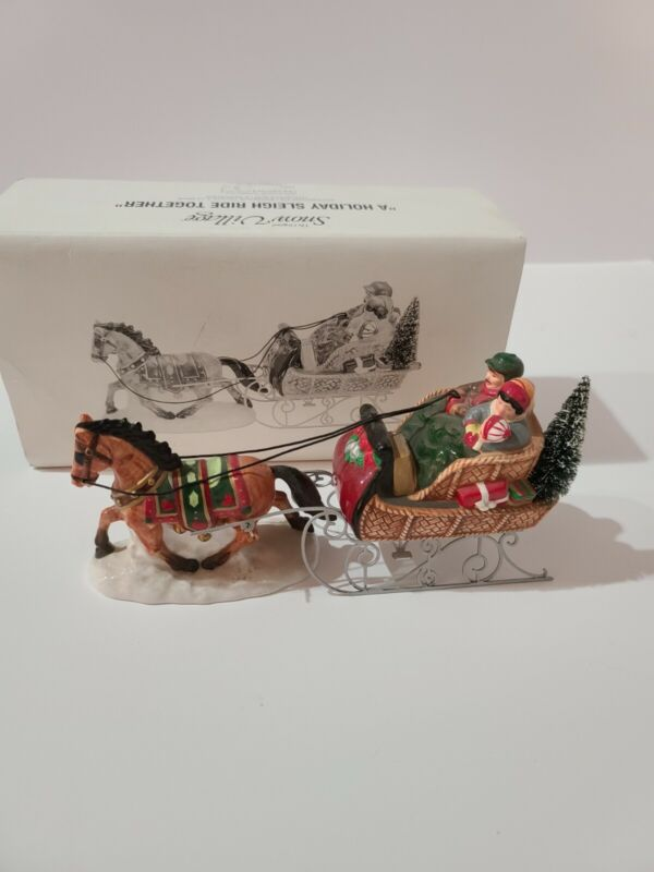 """Dept 56 Snow Village """"A Holiday Sleigh Ride Together"""" #54921"""