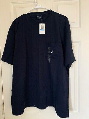 NWT Mens NAUTICA Blue Pima Cotton Pocket Classic logo T Shirt XL NEW