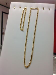 10k yellow gold chain & bracelet