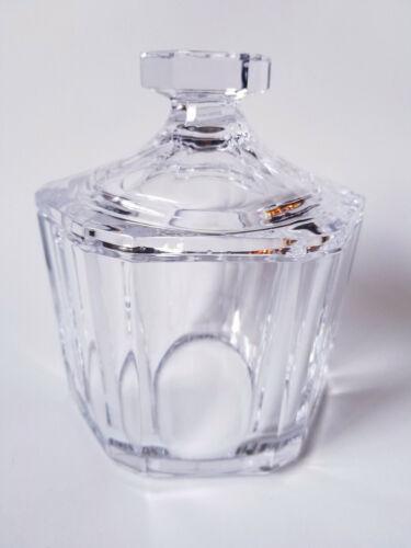 Orrefors Crystal Regina Biscuit Cookie Jar Olle Alberius Art Glass Vintage MCM