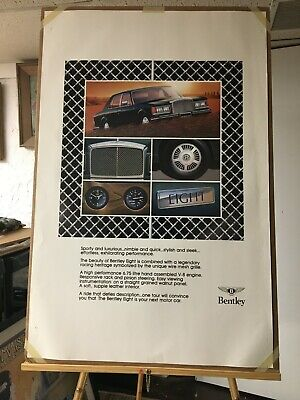1980 Vintage Bentley Eight Poster. Printers Color Proof Sheet. Rare Find. Mint.