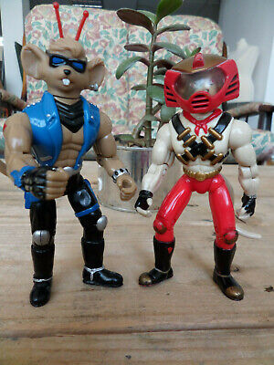 90's BIKER MICE FROM MARS VINNIE & THROTTLE KNIGHTS VARIANT ACTION FIGURE
