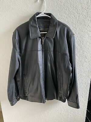 Jhanes Barnes - Mint Condition Leather Jacket - New Zealand Lamb Size Large 42