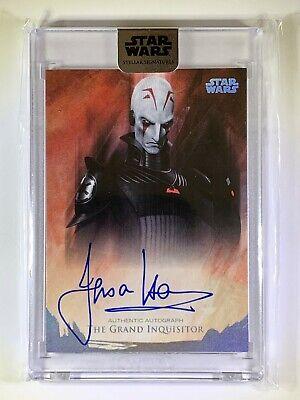 "2018 Star Wars Stellar ""Jason Isaacs as Grand Inquisitor"" Autograph Card 05/40"